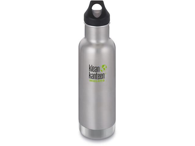 Klean Kanteen Classic Vacuum Insulated Bidón Tapa de Girar 592ml, Plateado